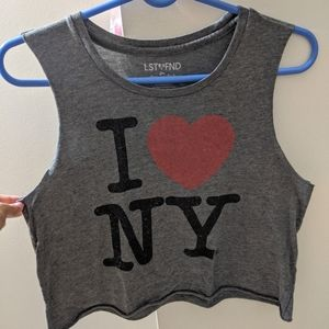 American Eagle Cropped Muscle Tee